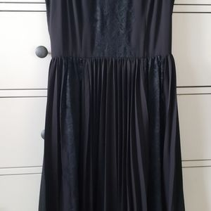 Pleated Blac Dress from Banana Republic